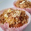 Muffins de maçã com crumble de aveia