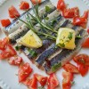 Filetes de sardinha marinados