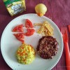 Family-food  - Hamburguer caseiro com arroz de cenoura