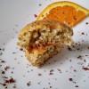 Muffins de laranja, sementes de papoila e chocolate