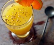 Gelatina detox de laranja e sementes de chia