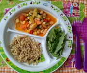 Legumes com quinoa