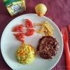 Family-food  - Hamburguer caseiro com arroz de cenoura