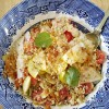 Salada de Bulgur, tomate e frutas