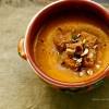 Sopa de abóbora com avelã