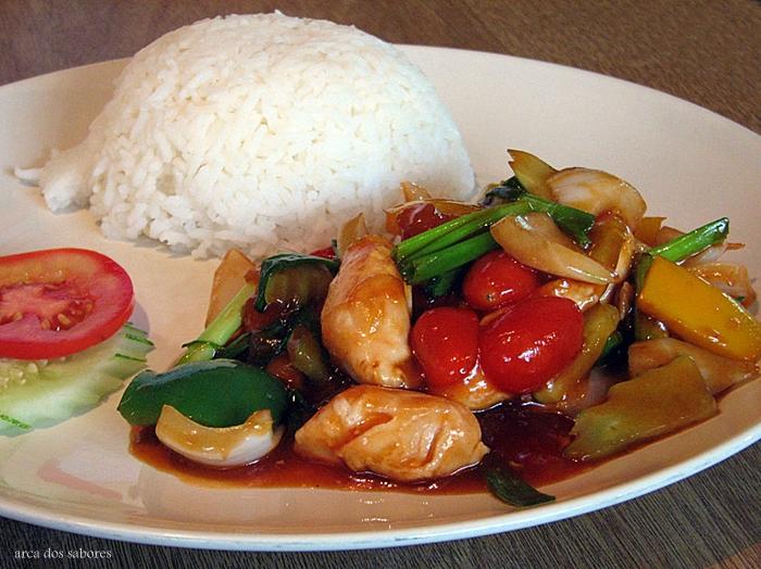 receita de frango agridoce (sweet and sour chicken)