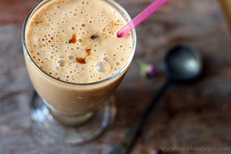 Smoothie de café e baunilha