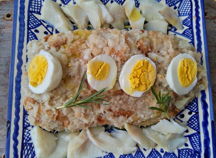 Migas gatas de bacalhau