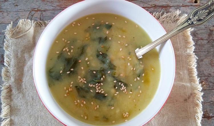 Sopa de Nabiça e Lentilhas