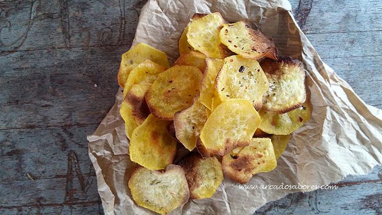 chips de batata doce picantes