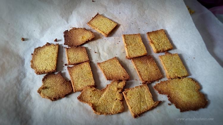 Crackers de farinha de coco